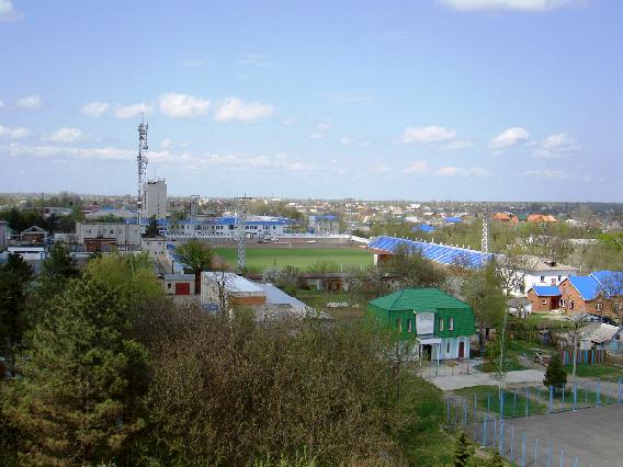Белореченск, Вид с колеса обозрения на стадион